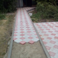 Тротуарная плитка ромашка